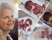 Csak a szülésnél derült ki, hogy a várt három helyett négy baba van