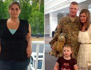 Mínusz 45 kilóval lepte meg felesége a küldetésből hazatérő katona férjét