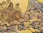 Művészeti alkotások rizsföldeken