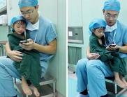 Szívműtétje előtt a szívsebész nyugtatta a kétéves kislányt