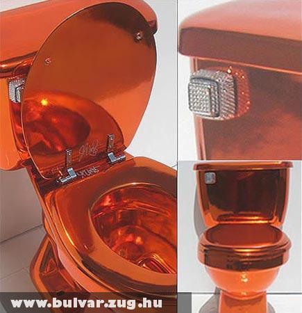 Besz*rás! Swarovski kristályokkal díszített luxus WC!