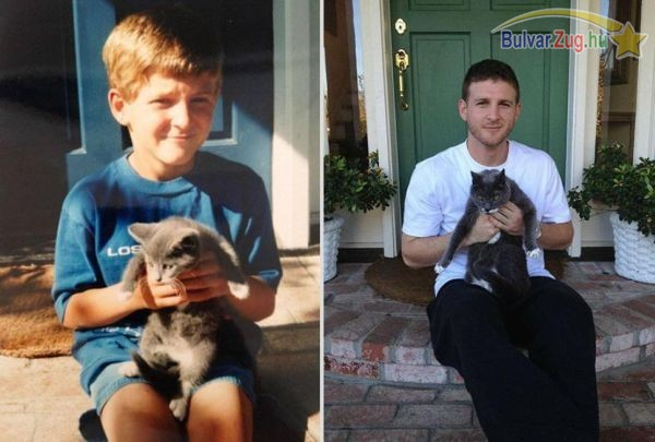 A cicus és gazdája 10 évvel ezelőtt és most