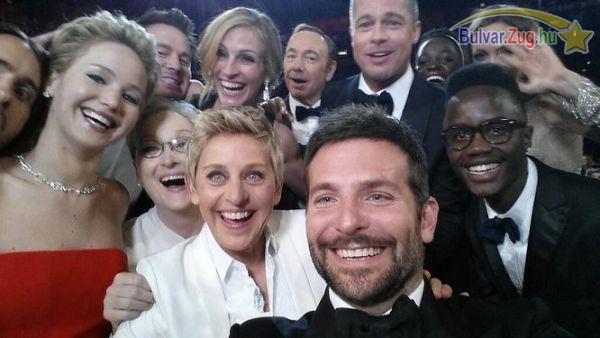 A műsorvezető selfije az Oscarról