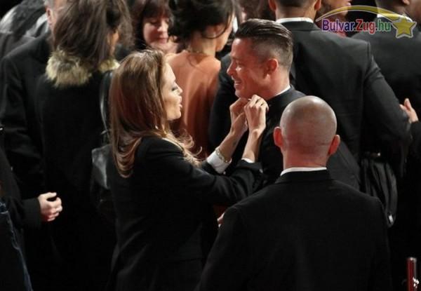 Angelina Jolie mindíg odafigyel Brad Pitt kinézetére