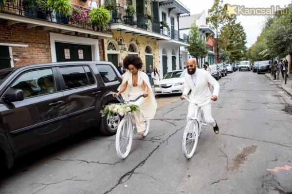 Biciklin érkezett saját esküvőjére Beyoncé húga