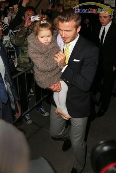 David Beckham és kislánya, Harper