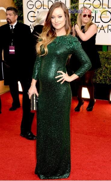 Olivia Wilde a Golden Globe díjátadón