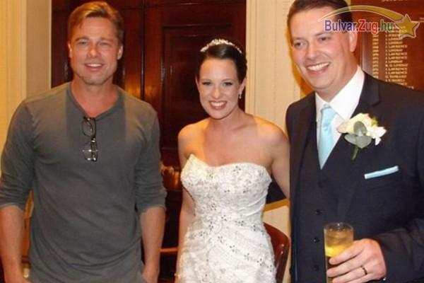 Véletlen egy lagziba keveredett Brad Pitt