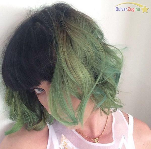 Zöld frizurára váltott Katy Perry