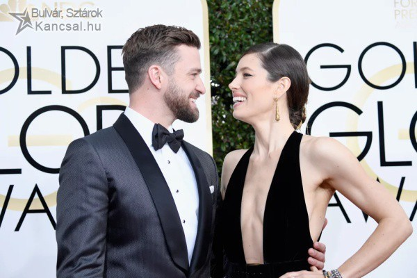 Jessica Biel and Justin Timberlake a Golden Globe díjátadón