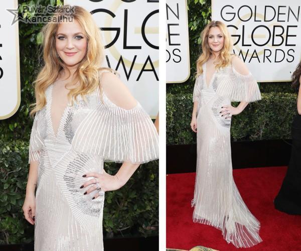 Drew Barrymore a Golden Globe gálán