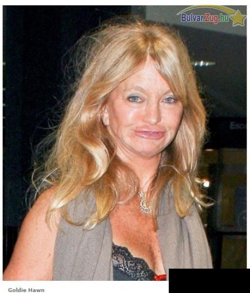 Goldie Hawn borzalmasan néz ki smink nélkül