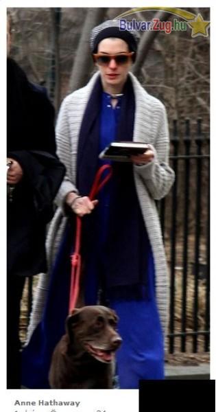 Anne Hathaway elrejtőzött az óriási ruhák alá