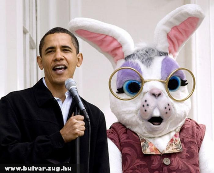 Barack Obama & Eastern Bunny
