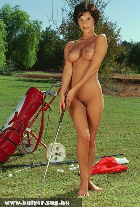 Szexi golfozó nõ