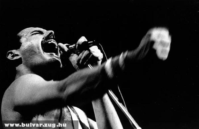 Freddy Mercury éneklés közben
