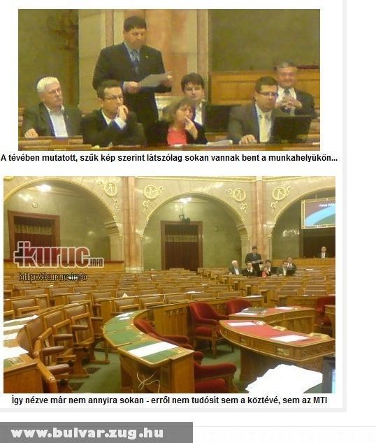 Parlamenti munka - dolgoznak a honatyák