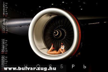 Szexi lány a turbolégcsavarban