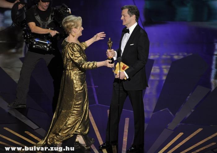 Oscar 2012: Margaret Thatcher brit miniszterelnököt megformáló Meryl Streep is Oscart kapott