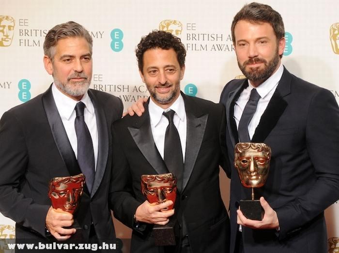 A színésztrió a díjátadón