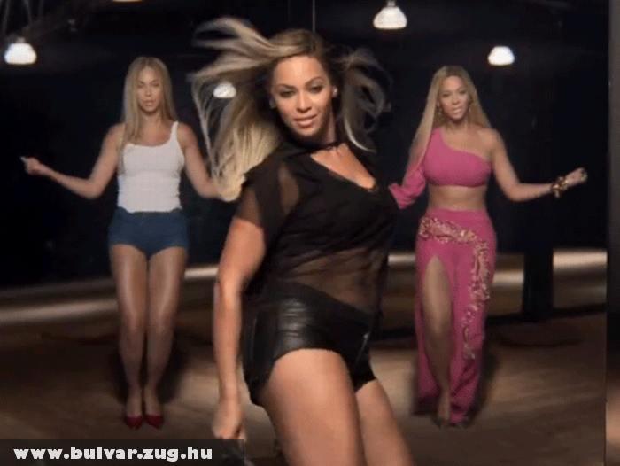 Nem túl sokat takaró ruhában riszálja Beyoncé