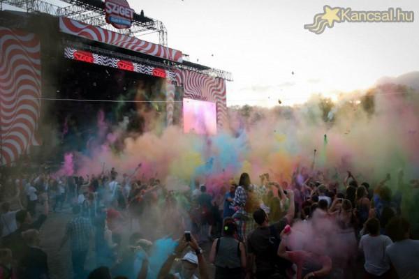 Sziget 2014 - szupernagy colorparty