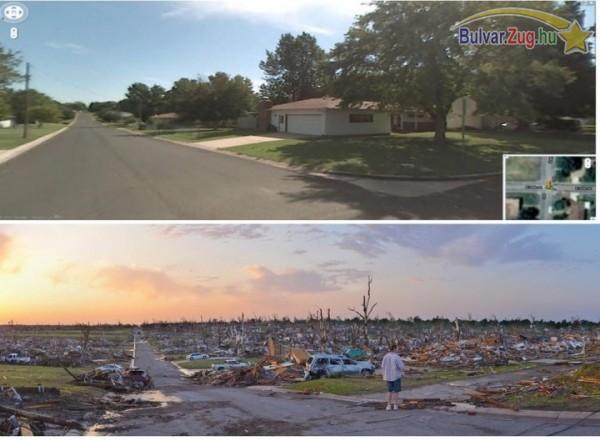 Tornádó előtt és után