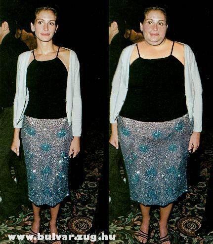 Julia Roberts kövéren
