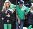 Fergie és kisfia Szent Patrik napi öltözetben