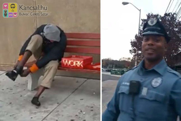 Rendőrt hívtak a hajléktalan férfihoz - intézkedés helyett egy pár új bakancsot kapott