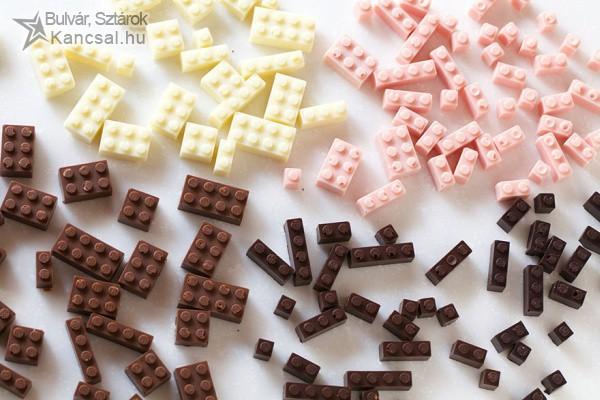 Csokiból készült lego gyerekeknek