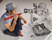 Életnagyságú 3D-s képeket készít a belga származású művész
