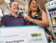 Másodjára is megnyerte az egymillió dolláros főnyereményt a szerencsés férfi